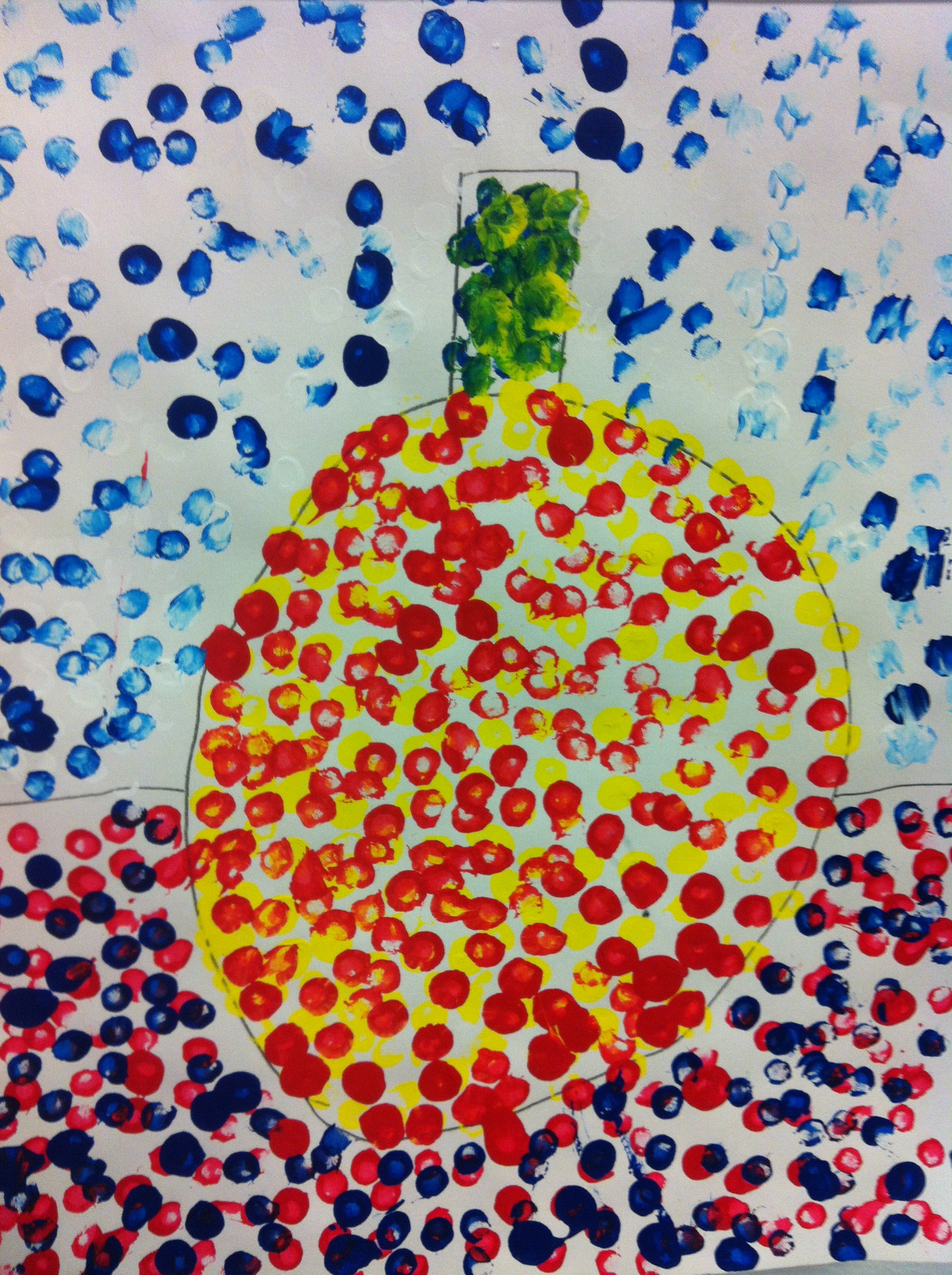 1st Grade George Seurat Pumpkins Art With Ms Frisbie